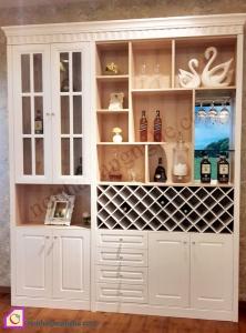 Nội thất phòng khách:Tủ rượu gỗ Sồi TR_43