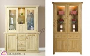 Nội thất phòng khách:Tủ rượu gỗ Sồi TR_45
