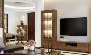 Nội thất phòng khách:Tủ rượu gỗ Melamine TR_48