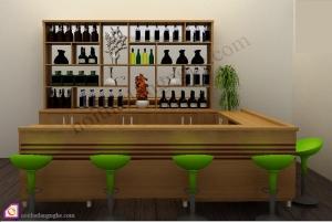 Nội thất phòng khách:Tủ rượu gỗ Venneer TR_54